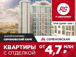 ЖК «Семеновский парк» Квартиры с отделкой в Москве от 4,7 млн